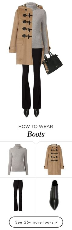 """""""Burberry - Coat, Bag & Boots"""" by jaycee0220 on Polyvore featuring Burberry, Philipp Plein and Chloé"""
