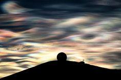 antartika,  nacreous bulutları, inci bulut