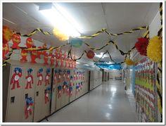 Dr Seuss hallway - amazing!