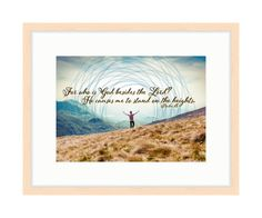 Stand on the Heights - Bible Verse Art - Psalm 18 by RandomOasis