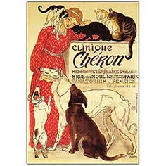 """""""clinique cheron"""" by Theophile Steinlen"""