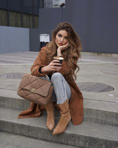 Negin Mirsalehi Street Style in a Tan Button Front Double Breasted Coat Out And About In, Autumn Winter Mode Outfits, Winter Outfits, Fashion Outfits, Fashion Clothes, Trendy Outfits, Fashion Ideas, Summer Outfits, Fashion Tips, Negin Mirsalehi
