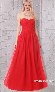 Fabulous Strapless Sweetheart Full skirt Red tulle ball dress.prom dresses,formal dresses,ball gown,homecoming dresses,party dress,evening dresses,sequin dresses,cocktail dresses,graduation dresses,formal gowns,prom gown,evening gown.