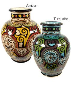 @Overstock - Complement your home decor or add a touch of the exotic with this engraved ceramic vase from Morocco. Handcrafted and baked in kilns that are over 200 years old, Moroccan pottery is known for its rich colors, intricate engravings, and repetitive designs.http://www.overstock.com/Worldstock-Fair-Trade/Engraved-Ceramic-Vase-Morocco/1531192/product.html?CID=214117 $42.99
