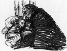 Kathe Kollwitz uses positive and negative space extremely well in all her artworks. Dark figures are very evident in her works. Her works ar...