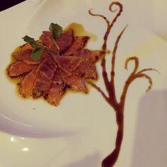 Black Pepper Tuna Tataki #tuna #sashimi #sushi #blackpepper #tataki #allyoucaneat #99cafesushihotpot #dinner #sushitime #yummy #japanese #foodie #foodporn #CFC2kf #win #atesomuchfood #orderedtoomuch #eatmore #dinnertime #atlanta #duluth #sushiporn by connlam
