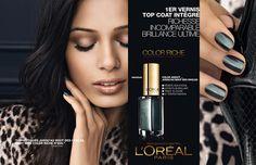 Indian beauty Freida Pinto goes sleek as a leopard for L'Oréal Paris