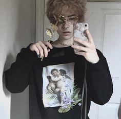 Sweatshirt from kokopie kokopie shop, beautiful boys, pretty boys, beautiful people, cute Beautiful Boys, Pretty Boys, Beautiful People, Aesthetic People, Aesthetic Boy, Cute Emo, Cute Guys, Emo Guys, Androgynous Hair