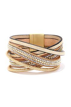 Sparkle and Shine Gold Cuff Bracelet ==