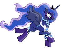 Princess Luna as a Power Pony by 90Sigma on deviantART< her name, The Night Watcher (or Starry Sentinal)
