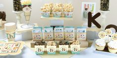 First Birthday Party Themes and 1st Birthday Party Ideas! How adorable, perfect for the lil' one who can't get enough of the alphabet!   #Alphabet Birthday Party Theme