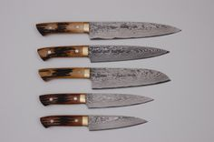 Love these handmade knives. From the Japanese Knife Company. SAJI 129 LAYER COLLECTION