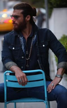 Turkish Men, Turkish Actors, Mens Hairstyles With Beard, Fall Fashion Trends, Gorgeous Men, Leather Men, Sexy Men, Handsome, Hollywood