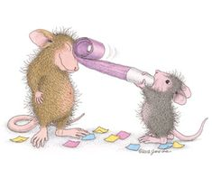 """""""Happy Birthday"""" from House-Mouse Designs®. This image was recently purchased as a package of 8 Birthday Cards. Click on the image to see it on a bunch of other really """"Mice"""" products."""