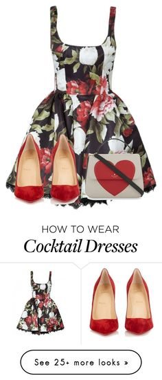 """""""Untitled #979"""" by aralynwinchester on Polyvore featuring Kate Spade and Christian Louboutin"""