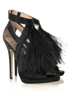 Would you wear feathers on #NYE? (Jimmy Choo)