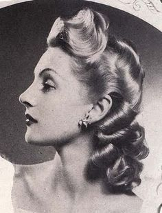 era hair styles an absolutely lovely 1940s hairstyle to wear with vintage 7636