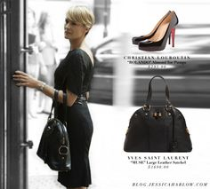 Claire Underwood | House of Cards bag-ysl shoes-louboutin