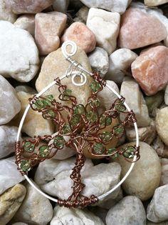 Tree of Life wire wrapped pendant, jewelry, how about hanging in a window ? Key Jewelry, Wire Jewelry, Jewelry Making, Pendant Jewelry, Wire Earrings, Beaded Jewelry, Jewlery, Silver Jewelry, Handmade Jewelry