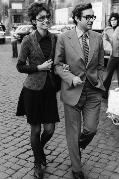 Audrey Hepburn with husband Andrea Dotti, September 8, 1971.