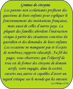 """Dossier """"Graines de citoyens"""" - Education civique, citoyenneté – Magazine Les Plumes n°38"""