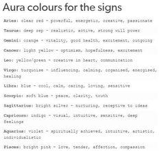 Aura colors for the signs! Zodiac Sign Traits, Zodiac Signs Capricorn, Zodiac Star Signs, Zodiac Horoscope, Horoscope Signs, My Zodiac Sign, Zodiac Memes, Gemini, Aquarius Astrology