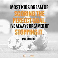 Iker Casillas defends her goal More #soccerquotes