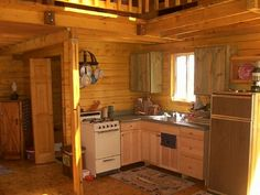 Simple small cabin. Love this type of interior, someday I want mine to look like this!