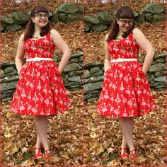 Love a good holiday print! #novelty #red #nevertooearly