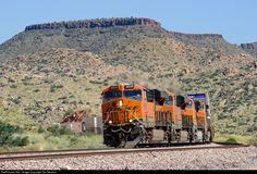 RailPictures.Net Photo: BNSF 6838 BNSF Railway GE ES44C4 at Valentine, Arizona by Tim Stevens