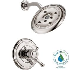 Delta Cassidy 1-Handle Shower Only Faucet Trim Kit in Polished Nickel (Valve Not Included)