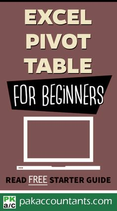 Pivot Tables for beginners – Free Guide – Excel formulas and functions – Basic Excel Formulas Excel For Beginners, Reading For Beginners, Computer Help, Computer Programming, Computer Tips, Microsoft Excel Formulas, Excel Hacks, Pivot Table, Blogging