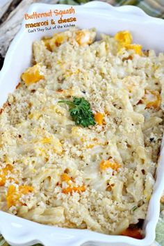 2 ½ cups butternut squash     8-oz. pasta     3 tbsp. butter     2 tbsp flour     2 tbsp. diced green onions     2 cups heavy whipping cream     salt    pepper     pinch of nutmeg     ¼ cup panko      ¼ cup shredded 6-cheese Italian      1 cup Monterey Jack