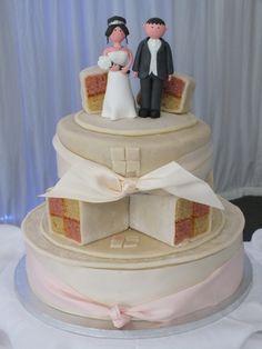 A Tiered Battenburg Wedding Cake completely battenburged in every way! Autumn Wedding, Our Wedding, Dream Wedding, Wedding Stuff, June Bride, Cheesecake Cake, Pork Belly, Green Velvet, Beautiful Cakes