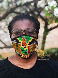 FABRIC FACE MASK, African Print Face Mask, Ankara Face Mask, 100% Cotton Washable Reusable Face Mask with Filter Pocket, Shaped Mask FM1002 Beautiful Mask, Pattern Cutting, African Design, Ear Loop, Filters, Round Sunglasses, Print Design, Cotton Fabric
