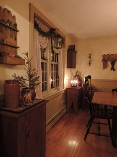 dining room- I like these style curtains for the kitchen