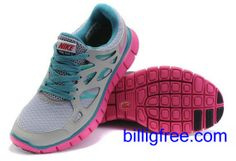 Verkaufen billig damen Nike Free Run 2 Schuhe (Farbe:vamp-grau,innen-blau, Logo, Sohle-rot) Online in Deutschland.