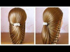 Tuto coiffure facile pour soirée / mariage / fêtes ♔ cheveux mi long / long ♔ simple et rapide - YouTube