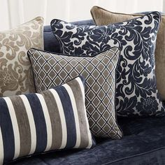 Remy by Warwick Fabrics Big Pillows, Sofa Pillows, Throw Pillows, Hamptons Living Room, Home Living Room, Chair Fabric, Drapery Fabric, Upholstery Fabrics, Hamptons Style Decor