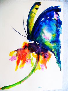 cool butterfly watercolor painting
