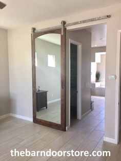 ~ Life is like a mirror. Smile and it smiles back at you.~ Especially if the mirror is on a barn door! http://www.thebarndoorstore.com/ #CustomBarnDoors #BarnDOors #MirroredBarnDoors #BathroomDoors #BathroomDecor #Mirrors