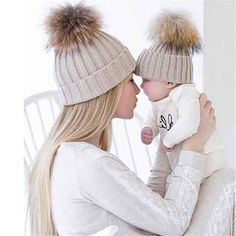 Hats & Caps Accessories Rational Wool Knitted Kids Warm Winter Caps Beanies 2017 Baby Boys Girls Pom Pom Hat Dual Raccon Fur Ball Chidrens Hat Bonnet Enfant Easy And Simple To Handle