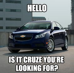 """The 2014 Chevy Cruze Diesel branded the """"New Efficient"""" Chevy Memes, Car Memes, 2014 Chevy, New Chevy, Chevrolet Blazer, Chevrolet Cruze, Chevy Lineup, Diesel Brand, Autos"""