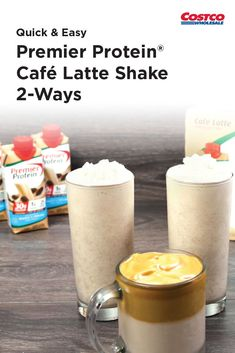Transform this scrumptious shake into a whipped coffee drink and a creamy banana smoothie. R Cafe, Easy Video, Shake Recipes, Coffee Drinks, Quick Easy Meals, Healthy Eats, Food Videos, Smoothie, Latte