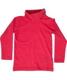 Name It fuchsia basis baby t-shirt met rolkraagje en knopjes. name-it.nl.emilea.be