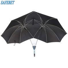 SAFEBET Brand Creative Couples Large area Double Open Umbrella Organizer Double Open Pole against Wind Sunny and Rainy Umbrella #Affiliate