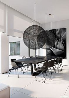 Modern Dining Room Decor – – - All About Decoration Room Tiles Design, Design Living Room, Dining Room Design, Dining Room Modern, Dining Area, Dining Rooms, Dining Tables, Luxury Home Decor, Luxury Interior Design