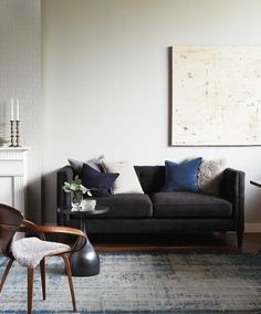 Cool Grey Living Room | photo Kim Jeffery | design Joel Bray | House & Home artwork by Karen Kawarsky
