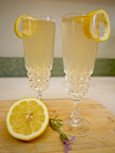 Lavender French 75-- Perfect for Mother's Day!