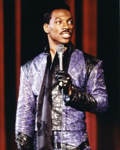 what can I say? I love this purple paisley outfit / Eddie Murphy - Eddie Murphy Raw